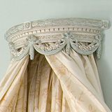 I just love the idea of these bed crowns/cornices over a crib!