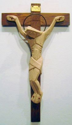 Sr. Thomasita Fessler, ceramic & wood crucifix