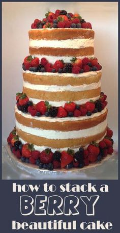 Berry Beautiful Wedding Cake | Little Delights I would LOVE the recipe for the cake / frosting as well. This looks stunning!