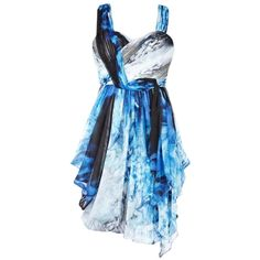 Coast Remo Print Dress, Multi (865 BRL) ❤ liked on Polyvore featuring dresses, vestidos, short dresses, blue, print mini dress, short blue dresses, coast dresses and pattern dress