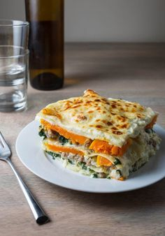 http://www.thekitchn.com/recipe-butternut-squash-amp-sausage-lasagna-recipes-from-the-kitchn-213641 Want to try this-chicken mango sausage may be a good fit here-after the holiday craziness.
