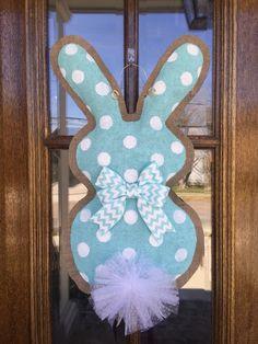 Bunny Burlap Door hanger