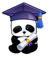 Little Panda's graduation! This is a special panda for me :3 -P