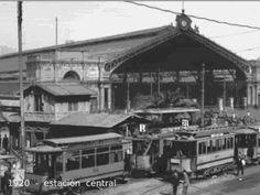 Estación Central de Alameda de Las Delicias en Santiago - 1920 Vintage Photography, Old Photos, Cabin, History, House Styles, Design, Santiago, Old Photography, Landscape