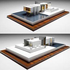 Villa ez 💫 b manal современная архитектура, Maquette Architecture, Architecture Model Making, Lego Architecture, Concept Architecture, Amazing Architecture, Residential Architecture, Modern Villa Design, Arch Model, Facade Design