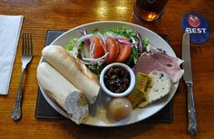 ~ Ploughman's Plate/Lunch ~ don't forget the pickled onion and Branston pickle ~