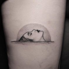 Dotwork style woman on the water tattoo. Tattoo artist: Brendon...
