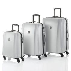 #Kofferset TITAN Xenon Deluxe bei Koffermarkt: ✓Farbe silber  ✓4 Rollen ✓Polycarbonat-Hartschalenkoffer ✓3-teilig