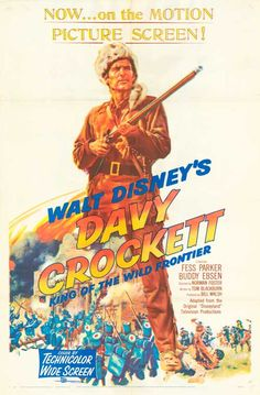 [ DAVY CROCKETT KING OF THE WILD FRONTIER POSTER ]