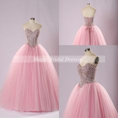 Sweet 16 Ball Gown Prom Dress 2015 Design Princess Style Sweetheart Floor-length Long Prom Dress with Shining Glass Crystals Women Dress by MagicBridalDresses on Etsy