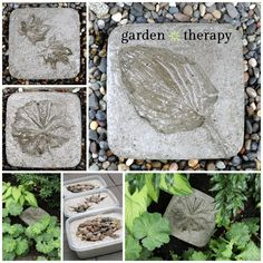 Leaf Imprint Stepping Stones DIY Project