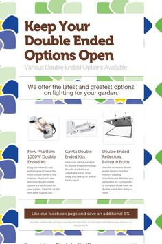 Keep Your Double Ended Options Open