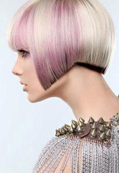 Short blonde violet hair Photographer: Paula Tizzard  Hair: Rossa Jurenas  Makeup: Michelle Los