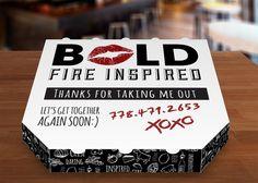 BOLD Pizzeria brand by Krysta Francoeur, via Behance #packaging #design