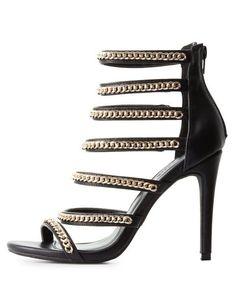 610debb7f8 Chainlink Strappy Dress Sandals