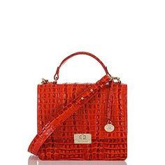 The #Brahmin Cecelia Shoulder Bag in Vermillion La Scala #MyBrahminFall
