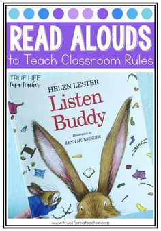 Books and read alouds to help teach students rules, routines, and expectations. Great for building a community in your classroom.