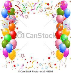 Vector - Balloner, grænse - stock-illustration, royaltyfrie illustrationer, stock-clipart-ikon, stock-clipart-ikoner, logo, stregtegninger, EPS-billede, billeder, grafisk, grafik, tegning, tegninger, vector-motiv, illustrationsmateriale, EPS vector-kunst