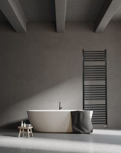 Create A Focal Point With These 5 Beautiful Jeeves Heated Towel Rails - SA Decor & Design Industrial Bathroom Design, Modern Bathroom, Industrial Style, Bathroom Ideas, Black Bathrooms, Bathroom Designs, Stainless Steel Towel Rail, Heated Towel Rail, Interior Architecture