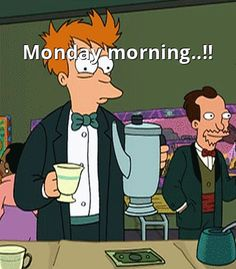 This man is drinking lots of #coffee to feel better on #monday. What do you use to feel better for work?