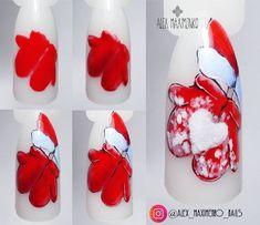 About nails (MK materials for nails) Nails PRO … – Nail Art Red Nail Designs, Christmas Nail Art Designs, Winter Nail Designs, Winter Nail Art, Winter Nails, Summer Nails, Christmas Manicure, Xmas Nails, New Year's Nails