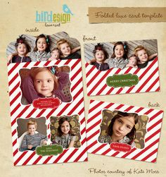 Holiday Folded Luxe Card Template  Vintage Classic by birdesign, $8.00....THIS WILL DEFINATELY BE NEXT YEARS CHRISTMAS CARD
