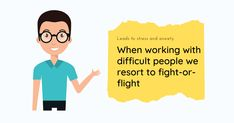 When dealing with difficult people, it's perceived as a threat by the amygdala. We either try to fight the behaviour by reacting instinctively without a thoughtful response or flee from the situation without solving the problem #communication #difficultpeople #toxic #selfawareness #coworkers #information #effectivecommunication #leadership #management #personaldevelopment #selfimprovement #learning #people #egos #toxicpeople #work #support
