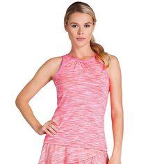 Women's Tail Blazing Sunset Farren Crewneck Racerback Tennis Tank, Size:  Small, Brt Pink