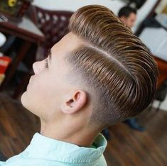 Pompadour Fade with Comb Over and Drop Fade - Pompadour Fade Haircut