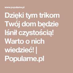Dzięki tym trikom Twój dom będzie lśnił czystością! Warto o nich wiedzieć! | Popularne.pl