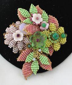 Vintage Stanley Hagler NYC Flower Brooch 3.5 Inches | eBay