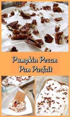 This easy no bake pumpkin recipe is perfect for Fall! #pumpkin #easydessert #nobake