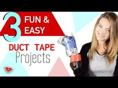 """Everyone loved Tay's """"Duck"""" Tape wallets and she had to share more! Here are 3 fun DIY's you can easily do. Bookmarks, hair bows, and snack bags are super fu..."""