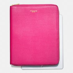 The Zip Around Ipad Case In Saffiano Leather from Coach