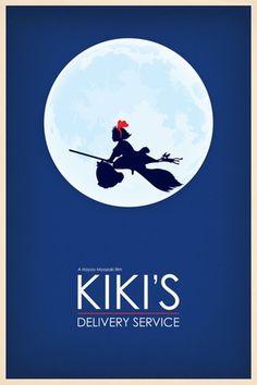 Movie poster re-edits - Kiki's Delivery Service #StudioGhibli