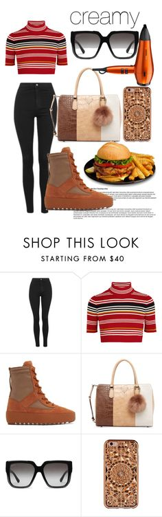 """""""delicious"""" by annabidel ❤ liked on Polyvore featuring Topshop, Alessandra Rich, adidas, GUESS, Gucci, Felony Case and BaByliss"""