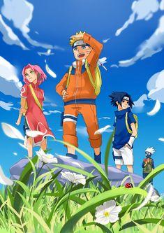 Team 7: Sakura Haruno, Naruto Uzumaki, Sasuke Uchiha & Kakashi Hatake