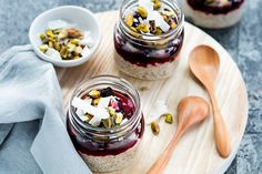 Nespresso Arpeggio coconut and chia seed pudding with blueberries and pistachios – Recipes – Bite