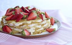 A cake... made of pancakes. We wouldn't have it any other way :) via arla.dk