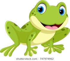 Illustration of Cute frog cartoon isolated on white background vector art, clipart and stock vectors. Funny Frogs, Cute Frogs, Cartoon Cartoon, Painted Rock Animals, Painted Rocks, Decoration Creche, Frog Drawing, Applique Quilt Patterns, Art Drawings For Kids