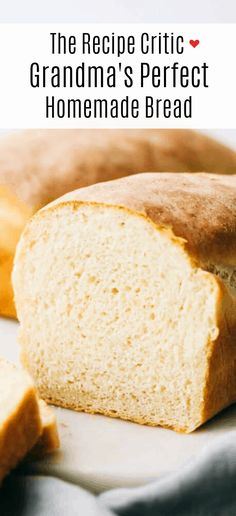 This homemade bread is always a family favorite ad can be done so easily with this perfect recipe my grandma handed down to me. Making bread is easier than you think! Grandma's Bread Recipe, Bread Recipes, Cooking Recipes, How To Store Bread, How To Make Bread, Food To Make, Homeade Bread, Easy Bread, Best Homemade Bread Recipe
