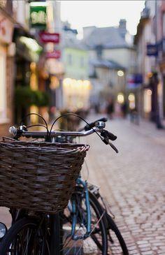 Nice depth of field shot in some European city...Bike