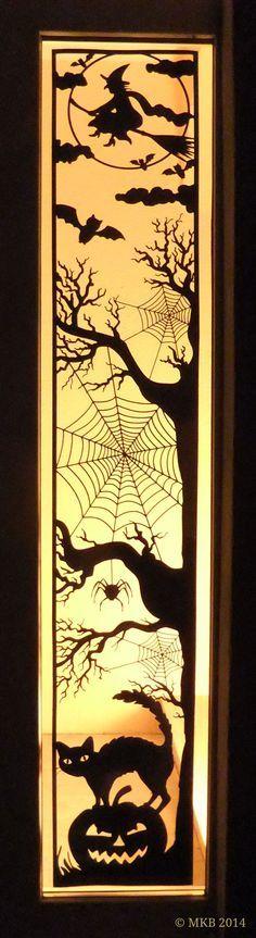Halloween-Türdekoration – Miri's Kreativblog