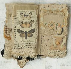 Mixed Media Fabric Collage Book of Haunted Witches | eBay