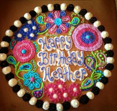 Flower Cookie Cake Decorations Designs Cakes Frosting