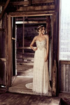 The Chloe Dress - from Anna Campbell Bridal's new Eternal Heart collection Wedding Gowns With Sleeves, Rustic Wedding Dresses, Trendy Wedding, Boho Wedding, Wedding Ideas, Dream Wedding, Wedding Things, Wedding Stuff, Wedding Inspiration