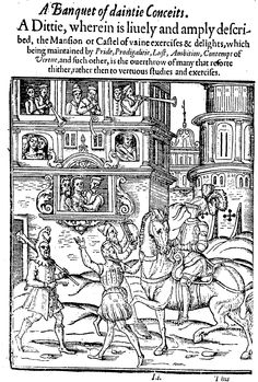 Anthony Munday: Banquet of daintie conceites, 1588 Castel of vaine exercises