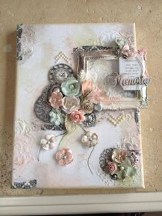 Mixed Media Canvas using Lindy's Stamp Gang sprays - Scrapbook.com