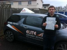 Congratulations to Ash Laden for passing his driving test on the FIRST attempt on 25th November 2013.  Well done Ash what a great drive you put in today and only one driver fault, brilliant result. I hope it's not too long before you're out and about in your car!  Best of luck for the future from driving instructor Steve Hartley and the team at Elite Driving School.
