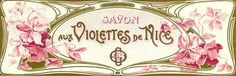 Vintage Perfume Label Prints | Savonne Aux Violettes De Nice, French Vinage Perfume Label